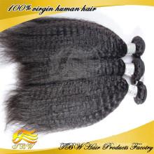 2015 Chaud !!! En gros Pas Cher 100% Non Transformés Vierge Mongol Humain Kinky Droite Yaki Cheveux Weave