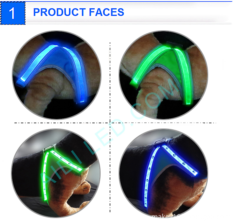 Led Lighted Dog Harness