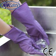 NMSAFETY Guante de látex de manga larga para trabajos domésticos y cocina