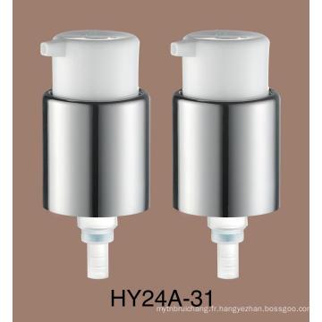 Pompe de crème de traitement de pompe de lotion de métal de 24mm