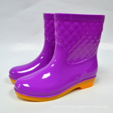 New fashionable Ladies' bright Color Red white gumboots women ankle rain boots