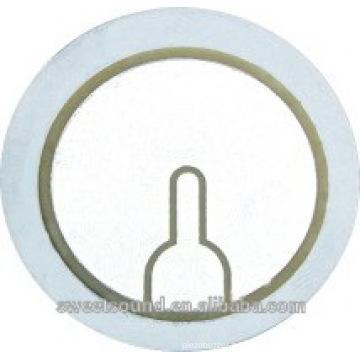 Los discos piezoeléctricos del acero inoxidable del elemento 31m m del zumbador del superventas