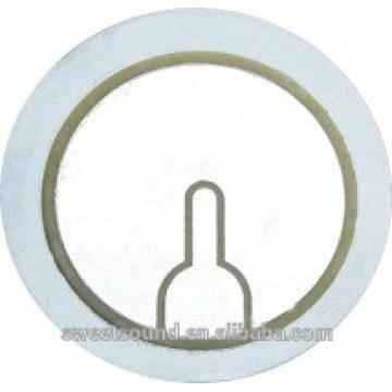 Elemento de zumbador piezoelétrico mais vendido discos de aço inoxidável de 31 mm