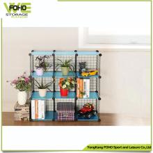 Support en métal d'étagère de stockage de fer forgé économisant l'espace qui respecte l'environnement