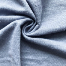 Light blue linen single jersey garment fabric