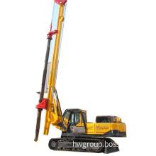 Lock rod crawler rotary screw drilling rig