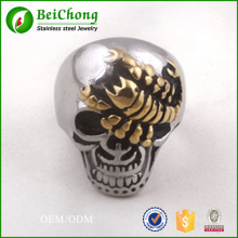 Punk Style men skull scorpion stainless steel ring