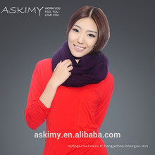 2015 100% Cashmere Wholesale ladys Écharpe en cachemire tricotée