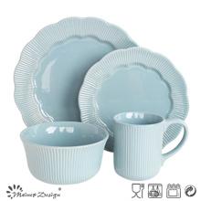 16PCS Blue Stripe Ceramic Dinner Set Classical Manufacture