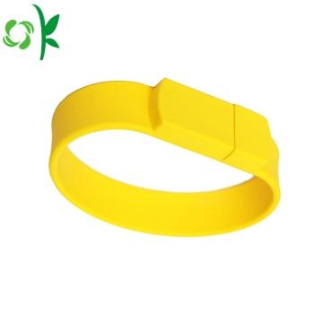 Hot Selling USB Logo Various Sizes Silicone Bracelets