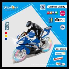 Mini motocicleta da roda transparente do brinquedo do miúdo quente da venda