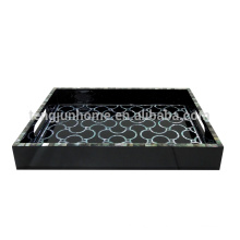 Hotel Supplies Black MOP Shell Tray with Paua Paper