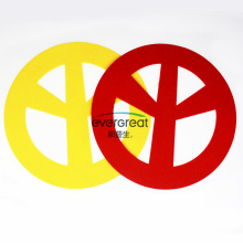 Felt peace sign diecut sheet