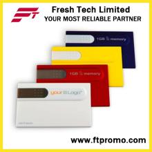Кредитная карта стиль USB флэш-накопитель для пользовательских (D605)