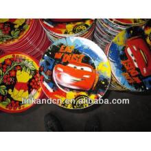 Haonai 2014 en vrac décalque décoratif lumineux magnifique assiette en céramique / assiette