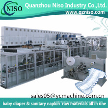 Hot Sale I Shape Disposable Pampers Baby Diapers Making Machine
