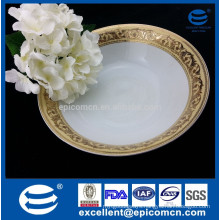 china porcelain with eastern pattern Dubai luxury gold decorated big salad bowl