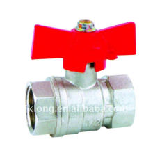 J2026 With butterfly handle Brass Ball Valve F/F