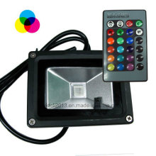 10Вт RGB светодиодный свет потока с пульта дистанционного управления
