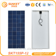 100w 150w 155 watt poly solar panel system with TUV ISO CE
