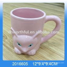 Lovely dolomite fox cup ,ceramic fox mug wholesale