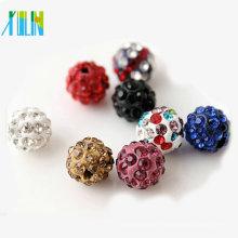 Bolas de bolas para pulseras nuevos hallazgos de joyería de moda DIY redondeado de cristal de cerámica