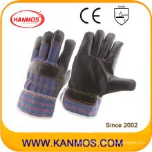 Muebles oscuros de cuero guantes de trabajo de seguridad industrial (310041)