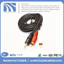 3.5mm к кабелю 2rca мужчины к мужчине для компьютера / VCD / DVD / HDTV / MP3