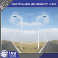 Galvanized 12M Round Lamp Post