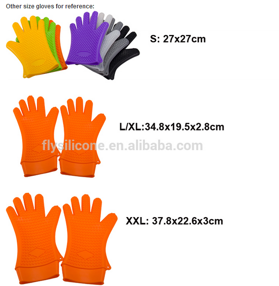 3 size gloves