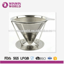 Wholesales stainless steel Coffee filter cone for coffee or tea tools