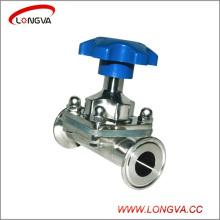 Válvula de diafragma sanitaria de acero inoxidable 316