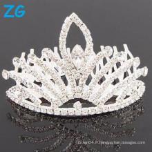 Vente en gros Crystal tiara couronne strass Wedding Tiara peigne clips pour femmes