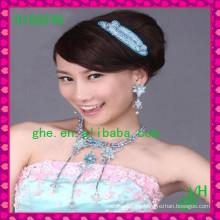 Nueva tiara vendedora caliente de la boda de la joyería de la corona de la joyería del Rhinestone de la tiara