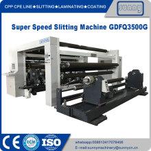 Σούπερ ταχύτητα Slitter ανατύλιξης μηχανή Jumbo roll