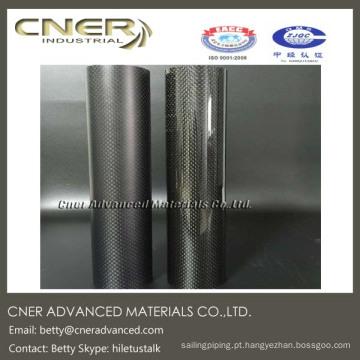 Tubo da fibra do carbono 3K, tubo completo do carbono do comprimento de 30mm, revestimento lustroso, matte disponível