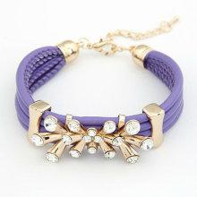 2015 hot sale wrap leather bracelet charm bracelet leather charm bracelet