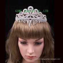 Princesse couronne en strass en argent princesse tiare