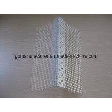 Cuenta de ángulo de PVC con malla de fibra de vidrio