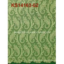 Nouveaux tissus de dentelle en cordon africaine de haute qualité pour la robe