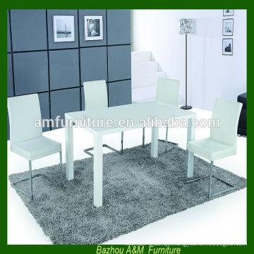 2014 neues Design Moderne erweiterbar E1 MDF Esstisch und Stühle gesetzt