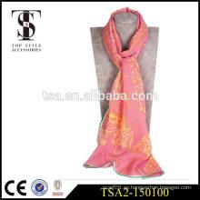 Bufandas de seda al por mayor 100 bufandas de seda pura aventura increíble patrón abstracto georgette bufanda