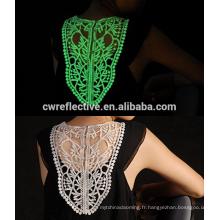 photoluminescent brillant dans le filament et le filament de polyester foncé Fil de soie lumineux / fil