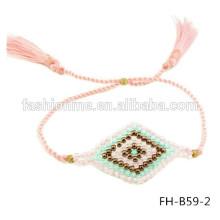 joyería de mal de ojo perlas de stock por mayor de semillas hechos a mano
