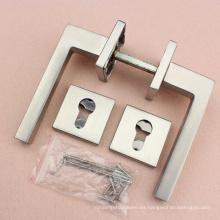 Manija de palanca de puerta de acero inoxidable rectangular Reliance Solid