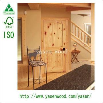 Вертикальные Внутренние Панели Узловатой Деревянной Двери Из Сосны