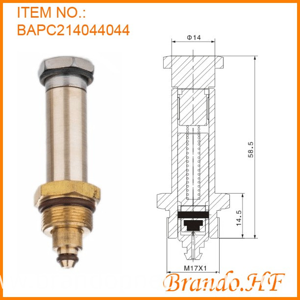 armature assembly for solenoid valve