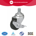 Mini 1.5 Inch 30kg Threaded Brake TPE Caster