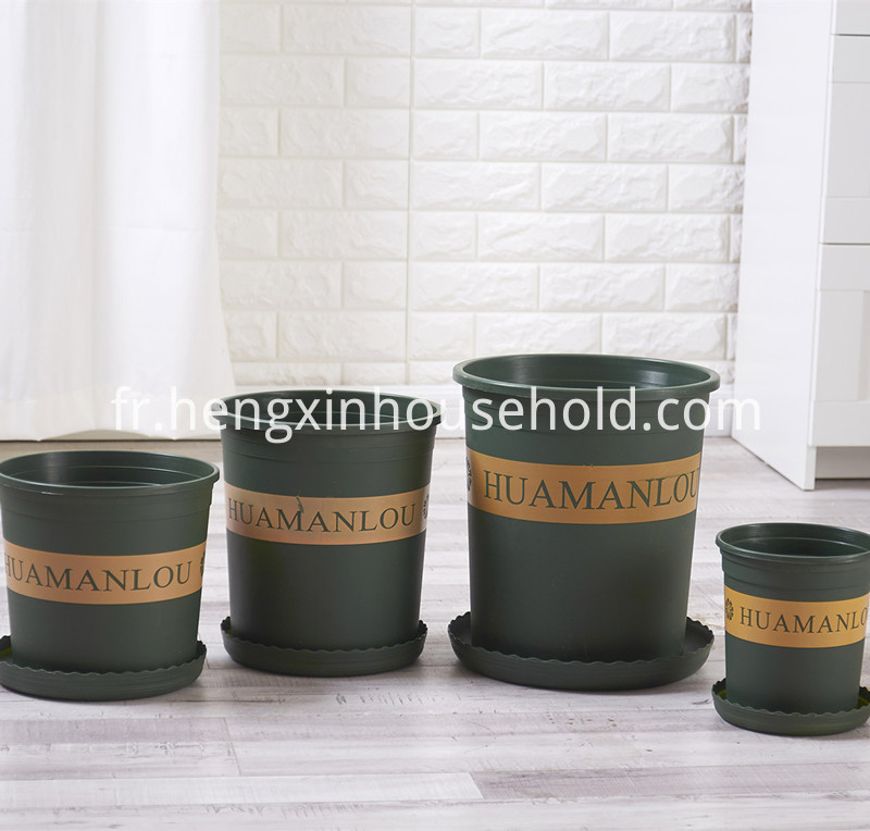 Round Plastic Planter Pot