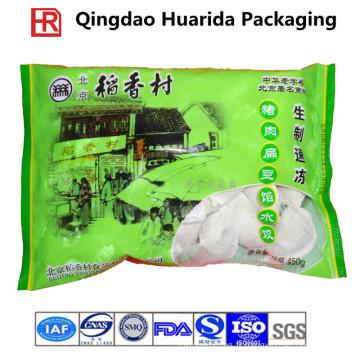 Personnaliser le sac en plastique congelé d'emballage alimentaire, poche de fruits de mer